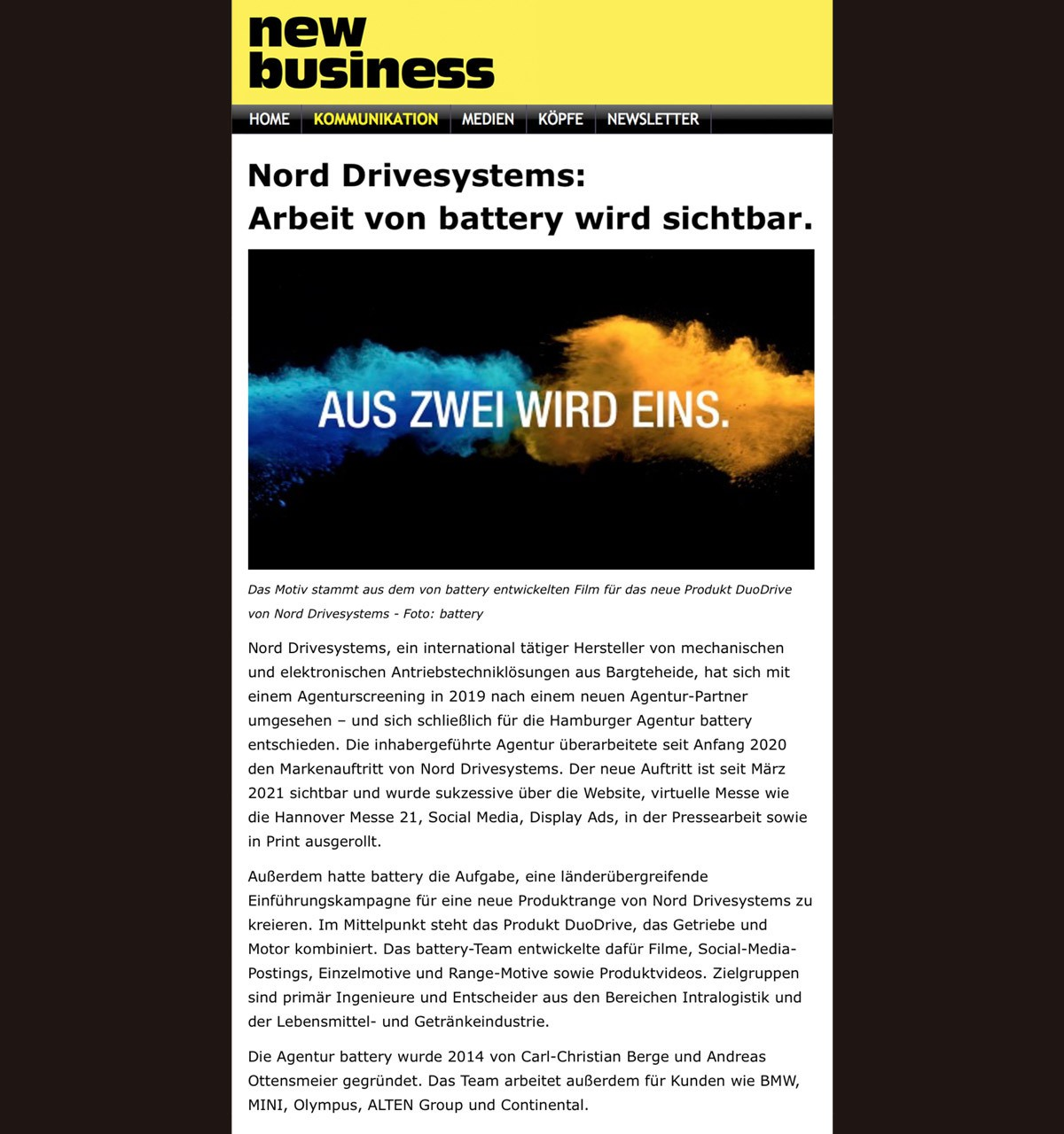Battery NORD newbusiness